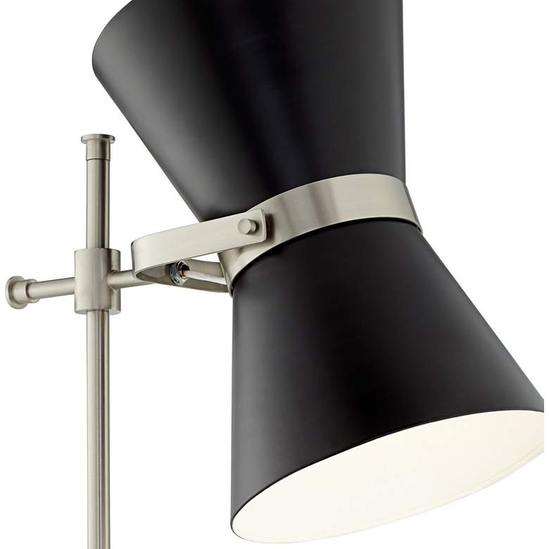Possini Euro Oxford Black Mid-Century Floor Lamp more views