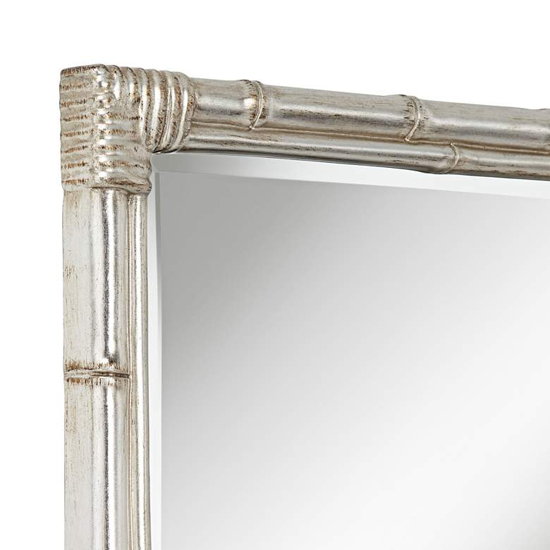 "Takeo Silver 31"" x 43"" Rectangular Bamboo Wall Mirror more views"