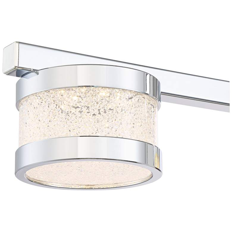 "Possini Euro Liv 35 1/2"" Wide Chrome 5-LED Island Pendant more views"
