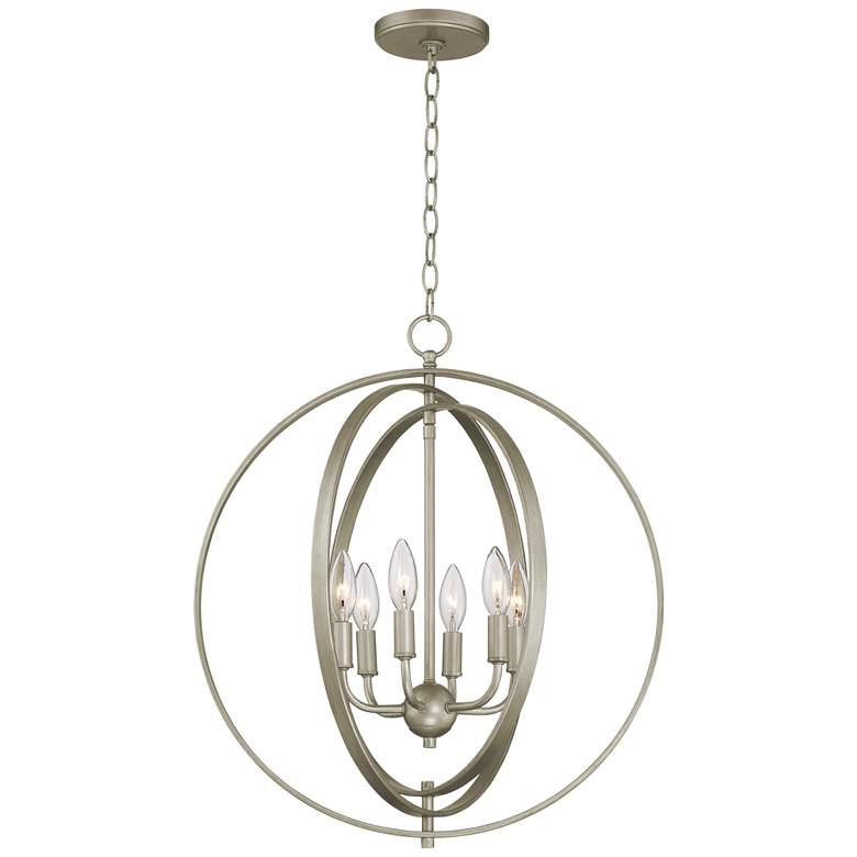 "Possini Euro Brockport 20 1/2""W Brushed Gold Foyer Pendant more views"