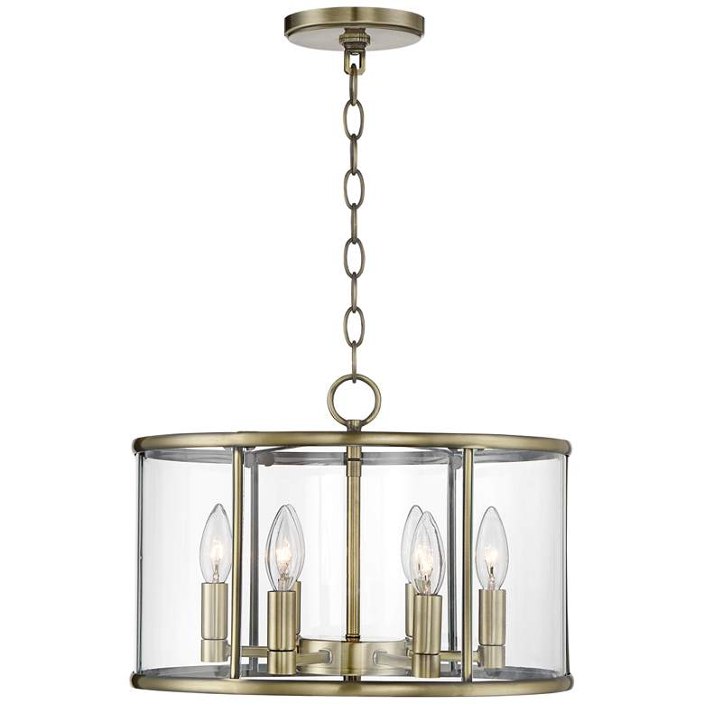 "Papineau 16"" Wide 6-Light Brass Pendant Light more views"