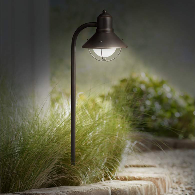 "Kichler Seaside 26 1/4""H Olde Bronze Landscape Path Light more views"