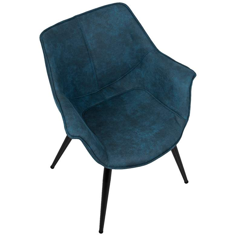 Wrangler Blue and Metal Accent Chair Set of 2 more views