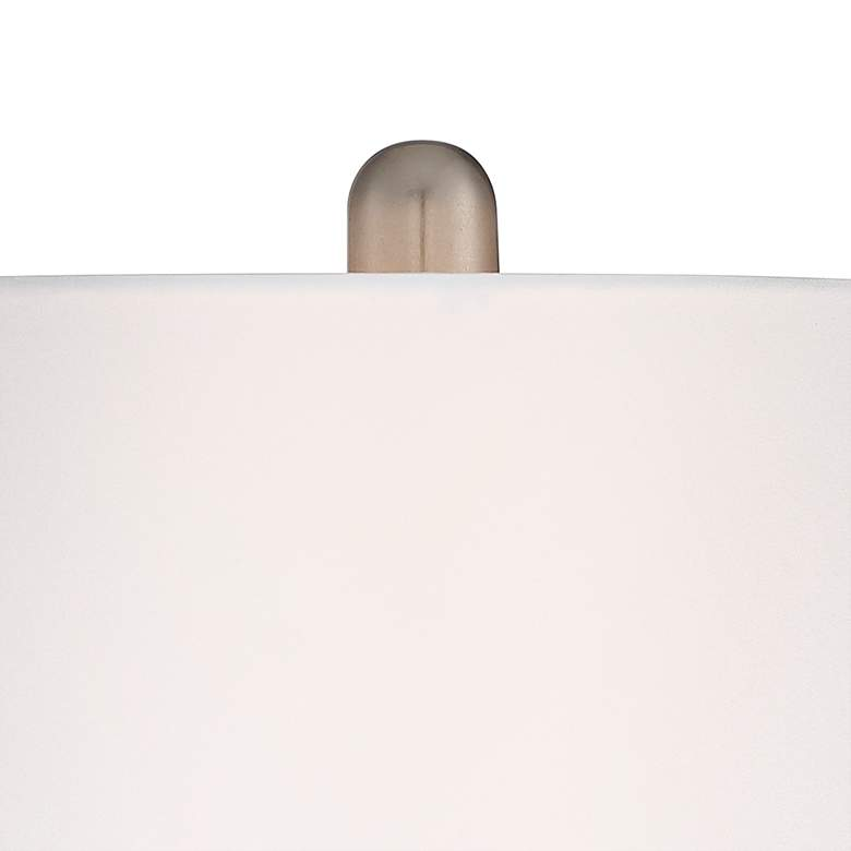Serrena White Glass Night Light Table Lamp more views