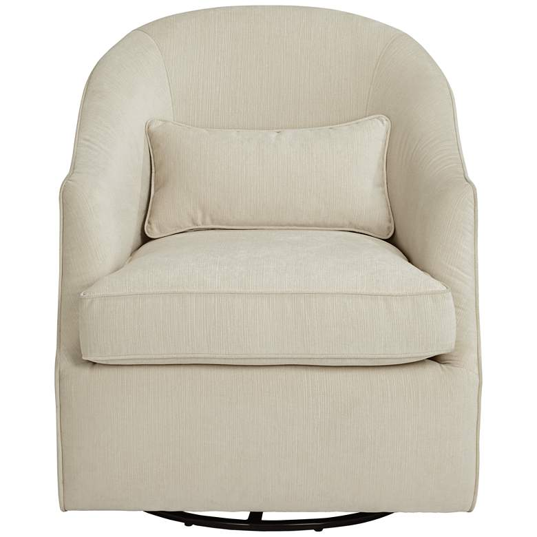Infinity Snowdrift White Swivel Accent Chair more views