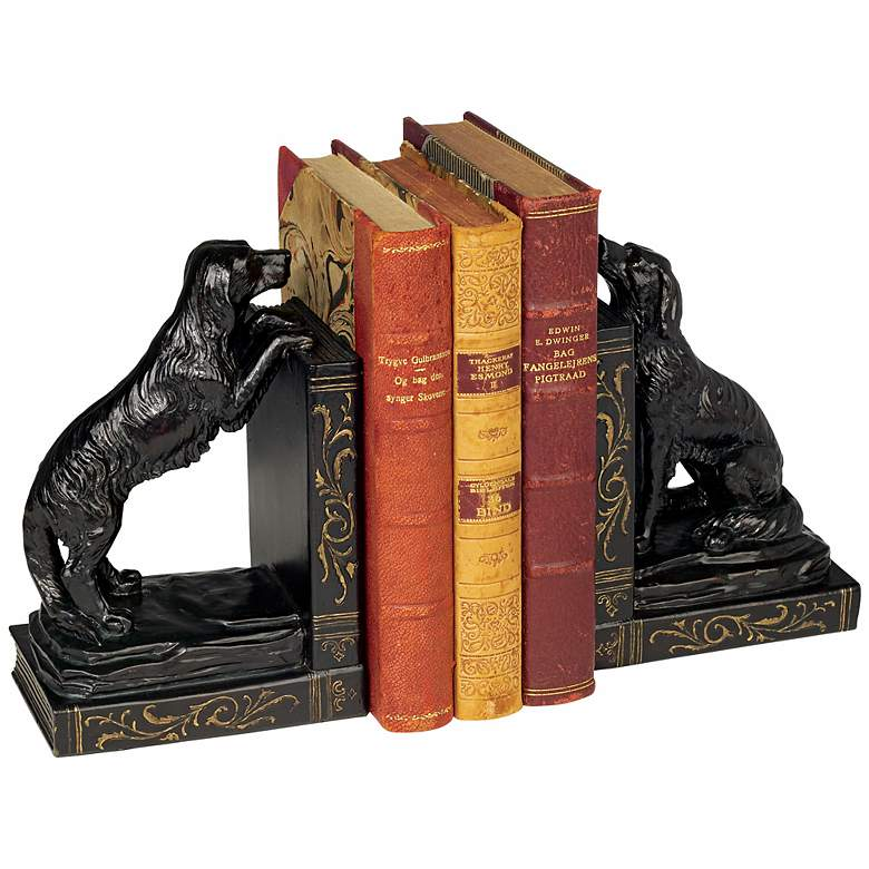Playful Golden Retriever Dog Bookends Set more views