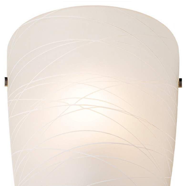 "Isola 13 1/4"" High White Striped Glass Wall Sconce more views"