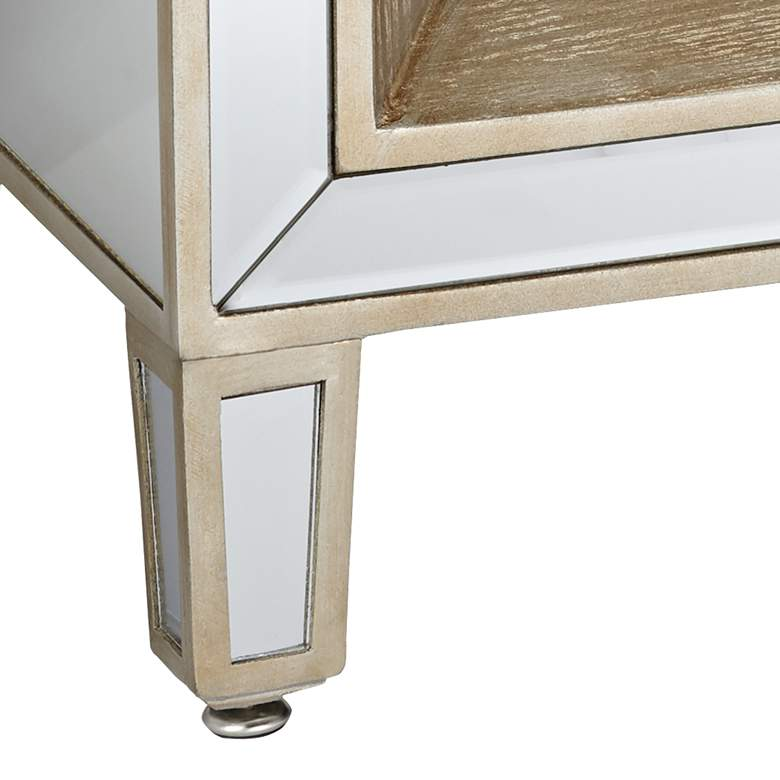 "Mira 28"" Wide 3-Drawer Mirrored Accent Table more views"