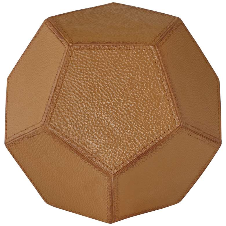 Geometric Faux Leather Decorative Balls - Set of 2 more views