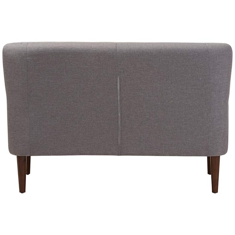 "Baxton Studio Toni 52 1/4"" Wide Light Gray Fabric Loveseat more views"