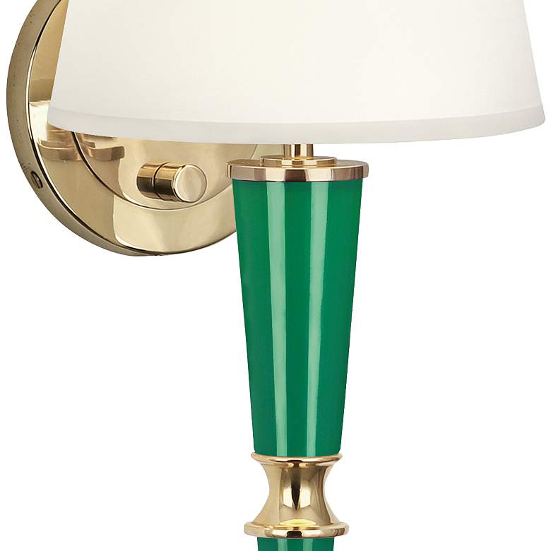 "Versailles 23 1/4""H Fondine Shade Emerald Lacquer Wall Lamp more views"
