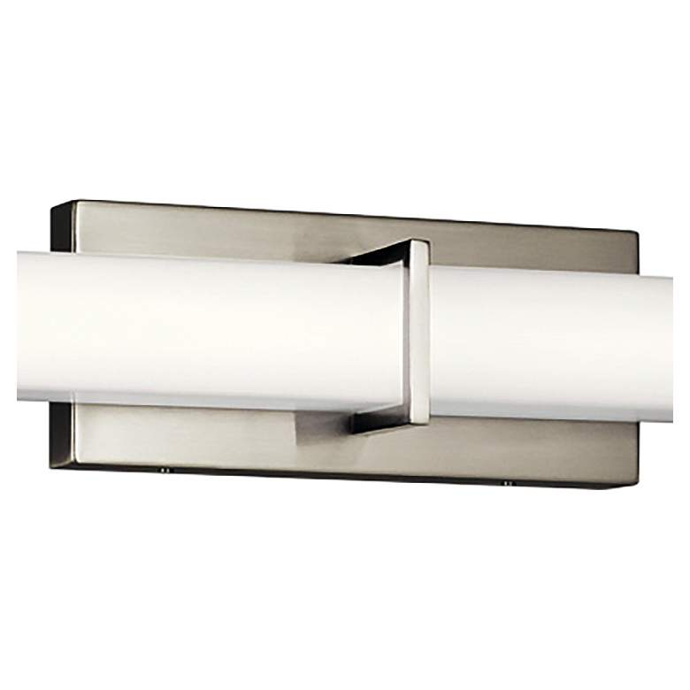 "Kichler Zel 49 1/4""W Brushed Nickel Linear LED Bath Light more views"