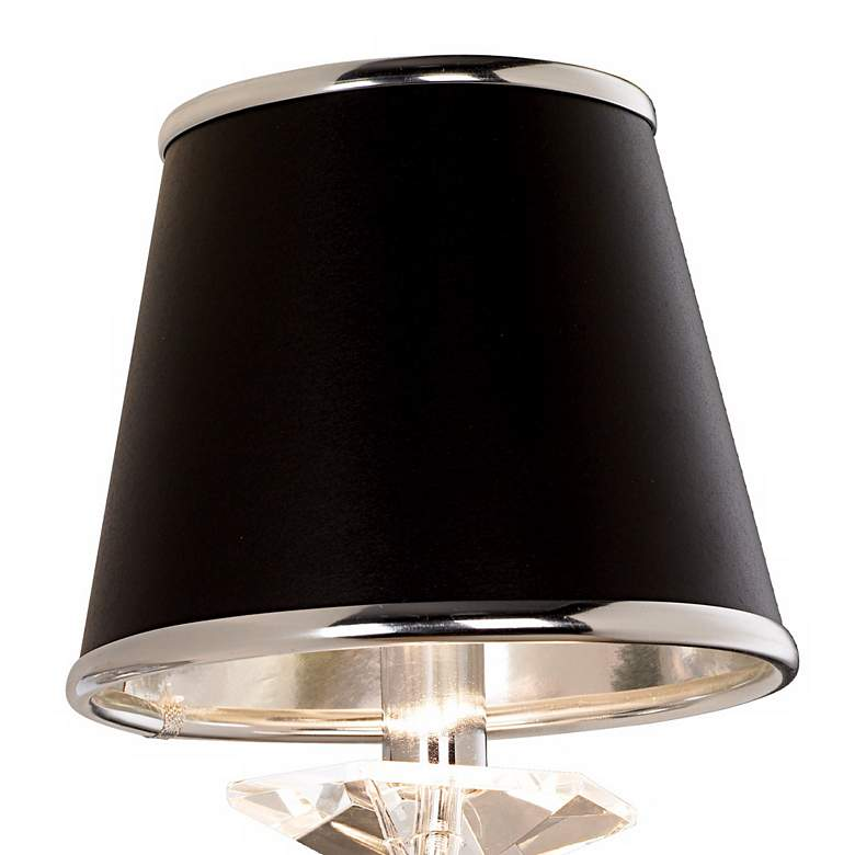 "Manhattan 13"" High Black and Chrome Crystal Wall Sconce more views"