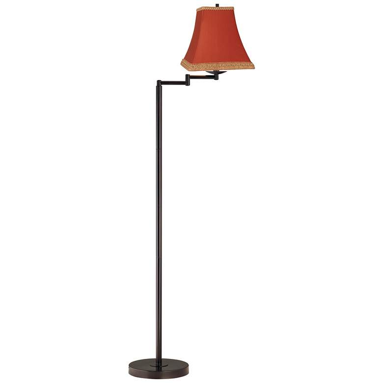 Rust Bronze Finish Swing Arm Floor Lamp more views