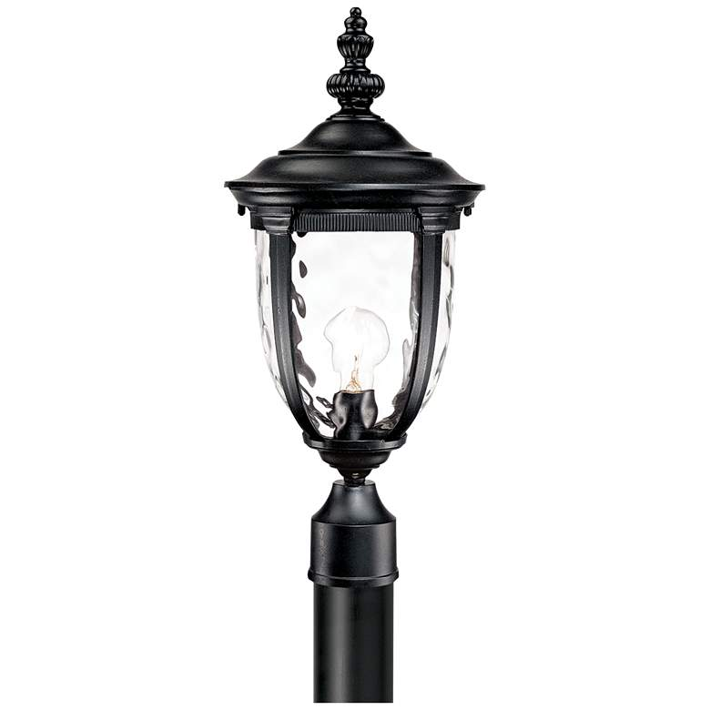"Bellagio 103"" High Black Outdoor Post Light with Burial Pole more views"