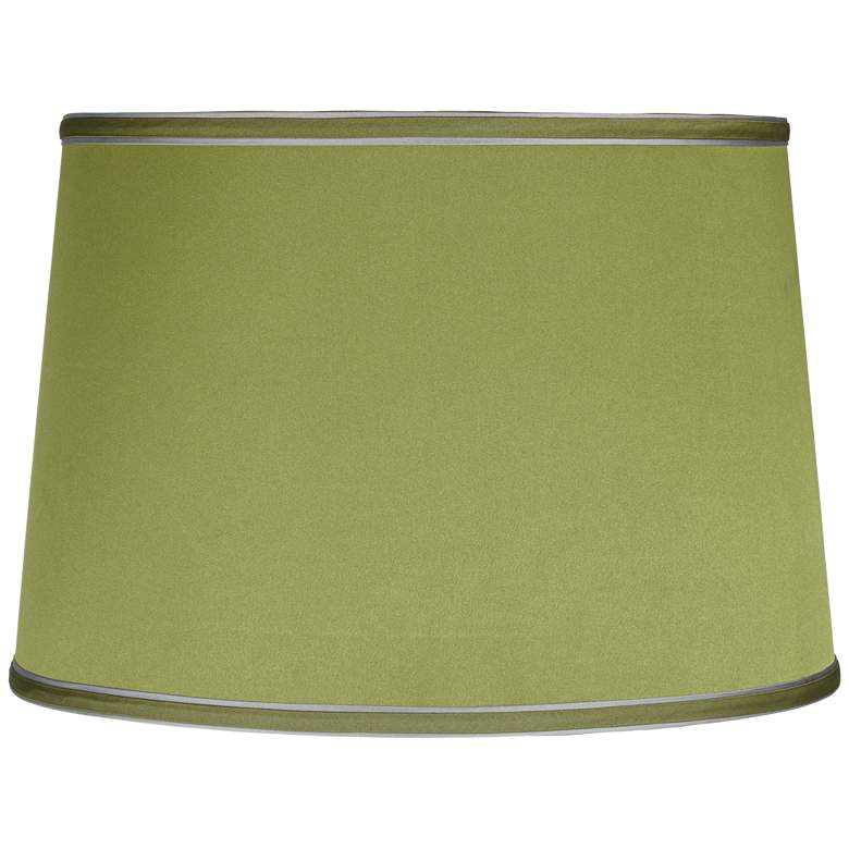 Satin Olive Green Crystal Trophy Table Lamp more views