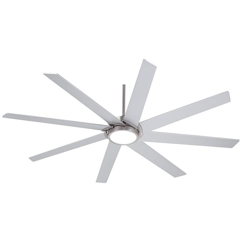"65"" Possini Euro Destination Brushed Nickel LED Ceiling Fan more views"