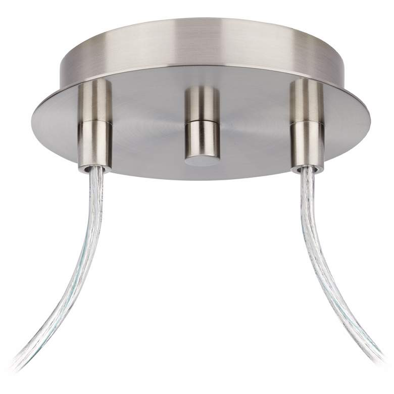 Possini Euro Portico Brushed Nickel Double Swag Chandelier more views