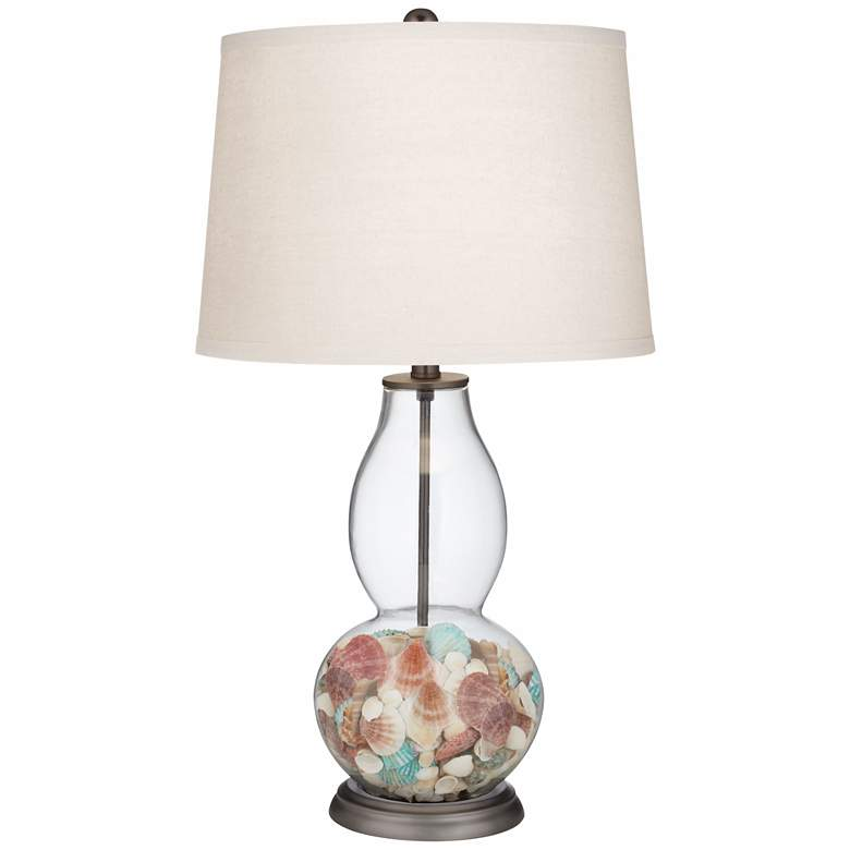 Clear Glass Fillable Double Gourd Table Lamp more views