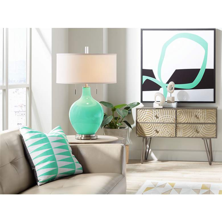 Turquoise Toby Table Lamp more views
