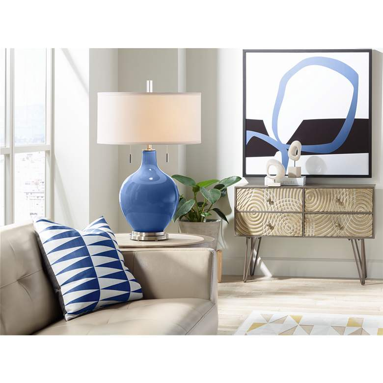 Monaco Blue Toby Table Lamp more views