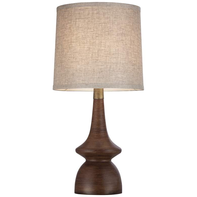 Rexford Mid-Century Walnut Table Lamp Set of 2 more views