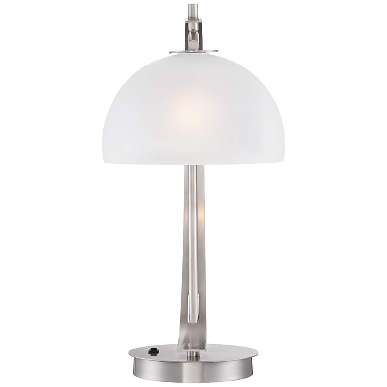 Possini Euro Modern Glass Dome USB Table Lamps Set of 2 more views