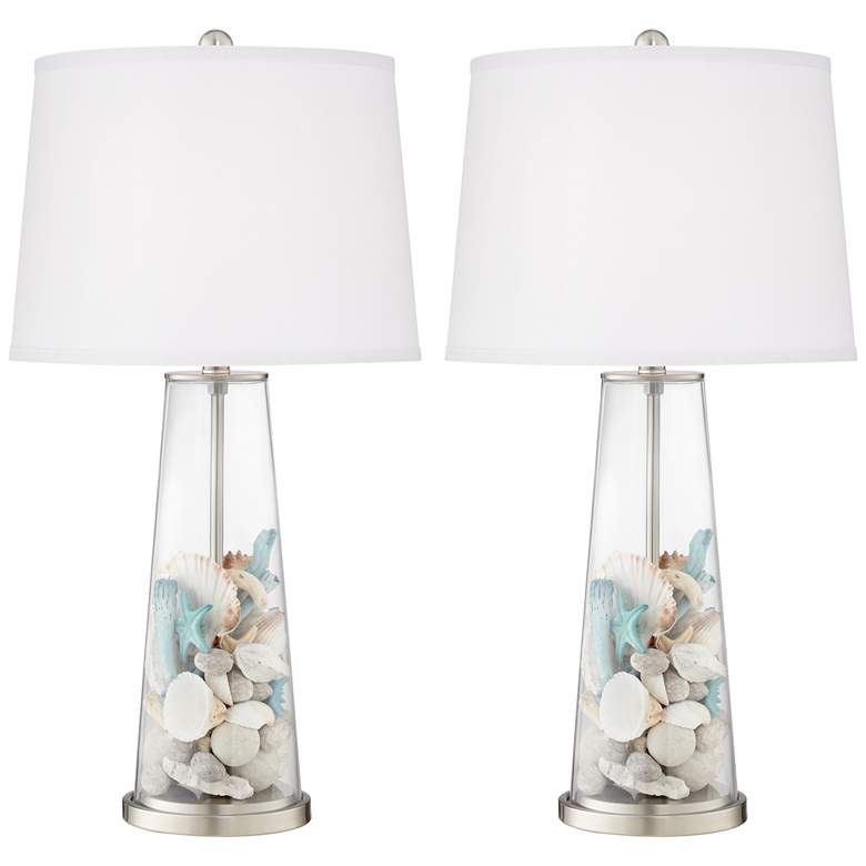 Clear Glass Fillable Leo Table Lamp Set of 2 more views