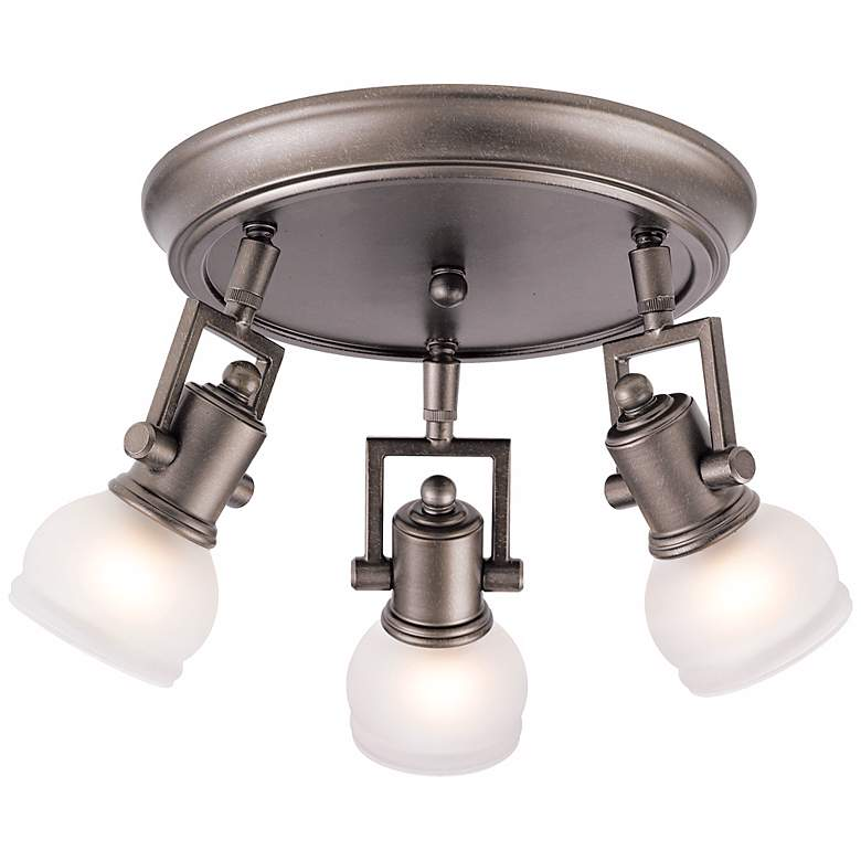 "Pro Track® Chace Pewter 10"" Wide 3-Light Ceiling Light more views"