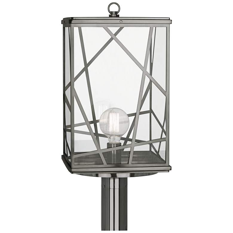 "Michael Berman Bond 22 1/2"" High Nickel Outdoor Post Light more views"
