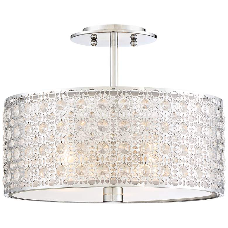 "Platinum Verity 15"" Wide Modern Chrome Ceiling Light more views"