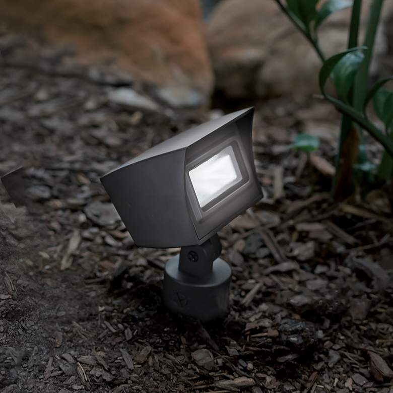 "WAC Landscape 6 1/4"" High Bronze 3000K LED 120V Flood Light more views"