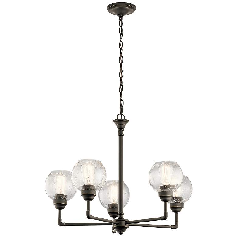 "Kichler Niles 26"" Wide Olde Bronze 5-Light Chandelier more views"