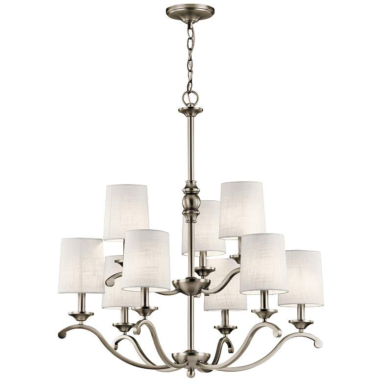 "Kichler Versailles 30""W Antique Pewter 9-Light Chandelier more views"