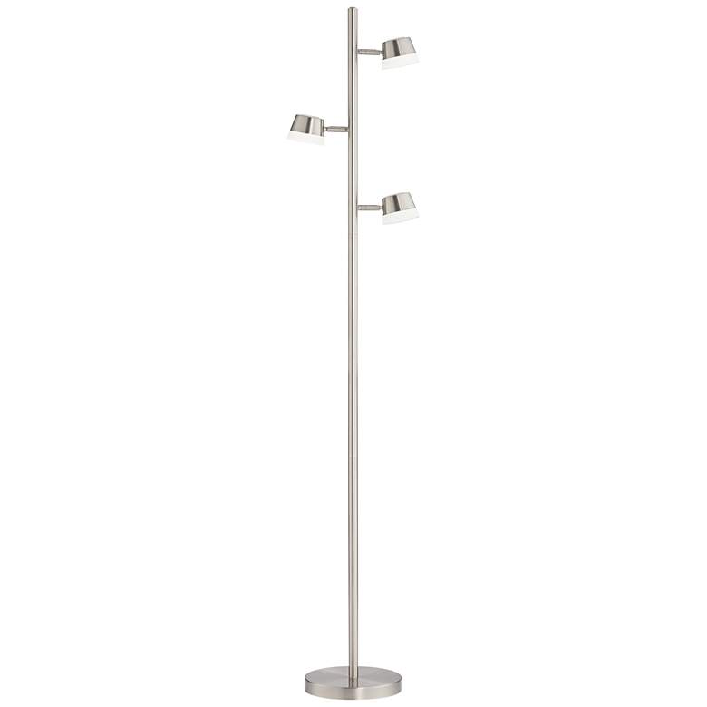 Merlin Satin Nickel Trac Tree 3-Light LED Floor Lamp more views