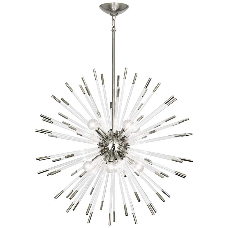 "Robert Abbey Andromeda 28""W Polished Nickel Pendant Light more views"