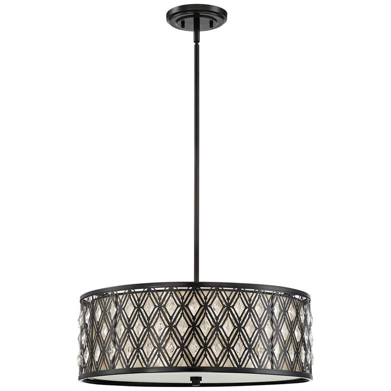 "Quoizel Boutique 22"" Wide Mystic Black Pendant Light more views"