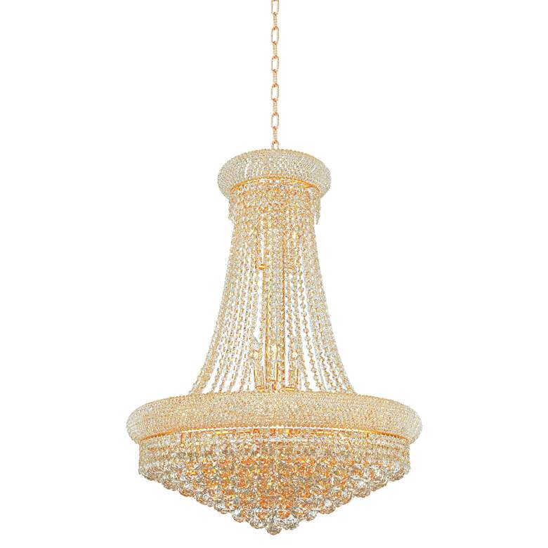 "Primo 28"" Wide Gold Crystal Chandelier more views"