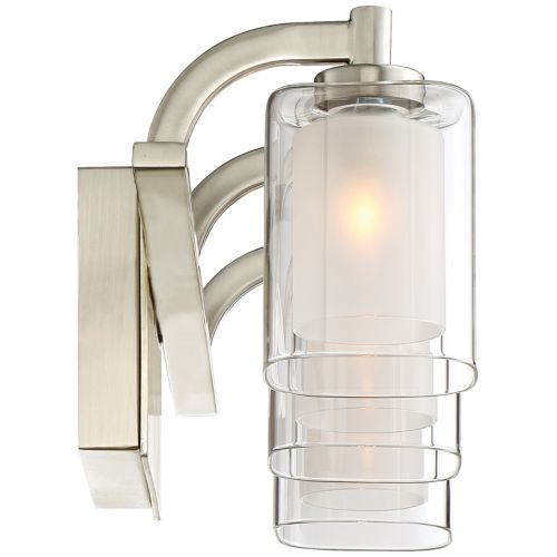 "Quoizel Kolt 21"" Wide Brushed Nickel LED Bath Light"