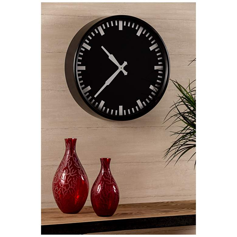 "Cooper Classics Ryder Black 19 1/2"" Round Wall Clock more views"