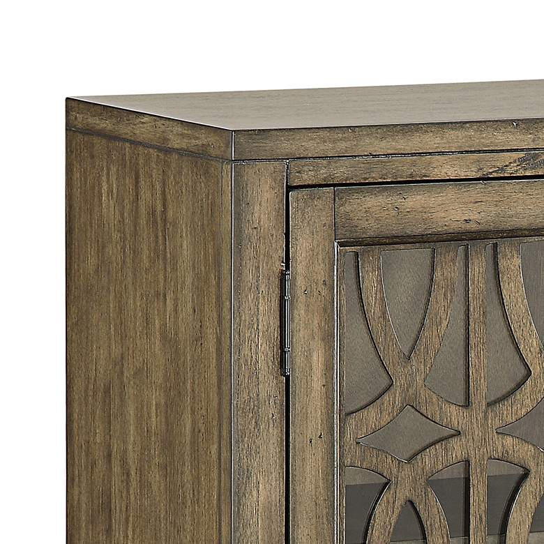 "Pendleton Kire 40 1/2"" Wide Glass Door Accent Cabinet more views"
