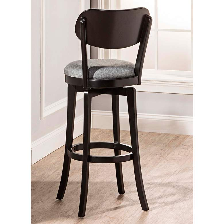 "Hillsdale Sloan 25"" Slate Gray Fabric Swivel Counter Stool more views"