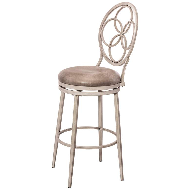 "Hillsdale Donnelly 30"" Granite Faux Leather Swivel Barstool more views"