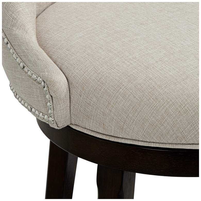 "Hillsdale Halbrooke 25"" Cream Fabric Swivel Counter Stool more views"