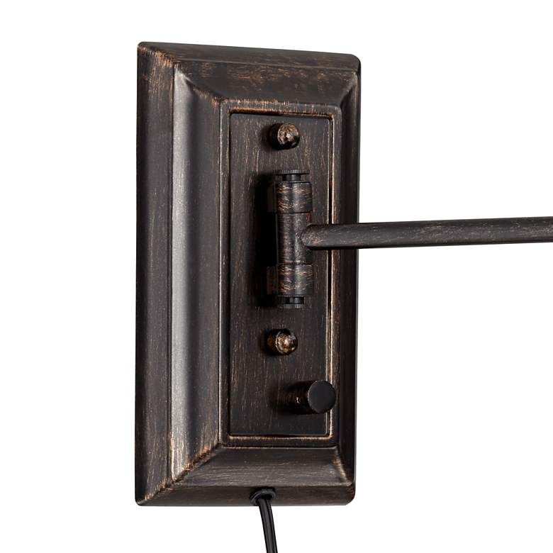 Hektor Brushed Bronze Plug-In Swing Arm Wall Lamp more views