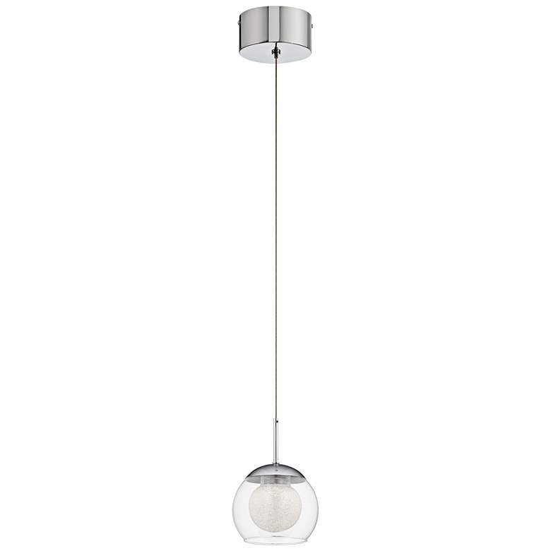 "Elan Lexi 5"" Wide Chrome LED Mini Pendant more views"