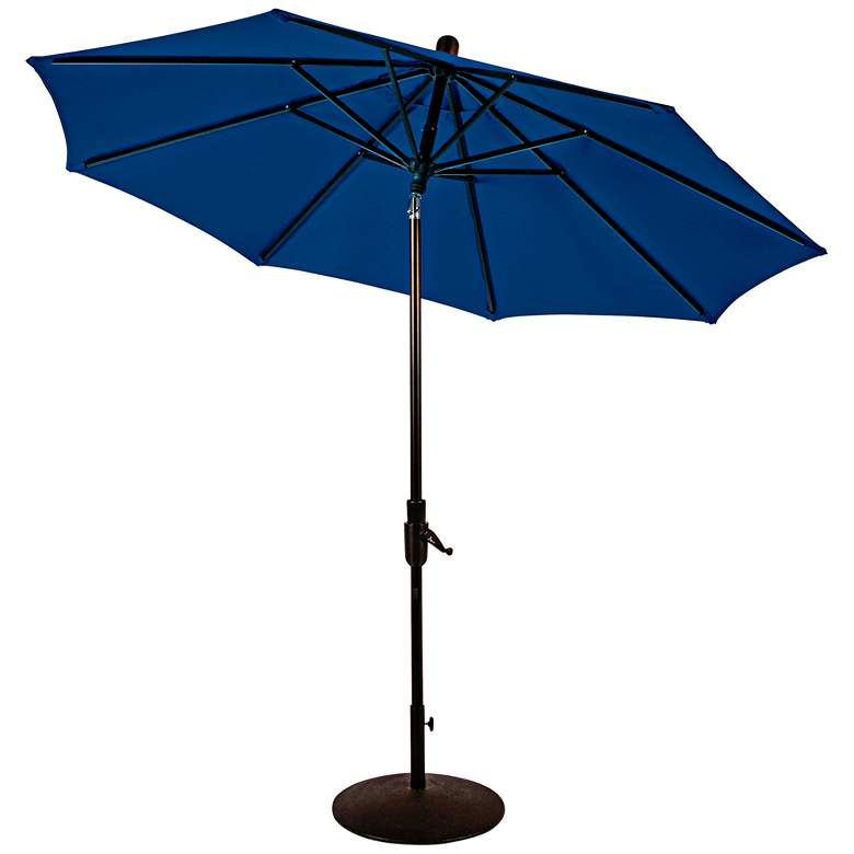 Zuma Shore 8 3/4-Foot Pacific Blue Sunbrella Patio Umbrella more views