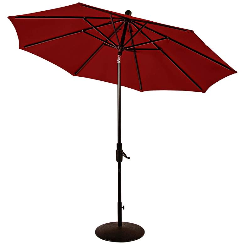 Zuma Shore 8 3/4-Foot Jockey Red Sunbrella Patio Umbrella more views