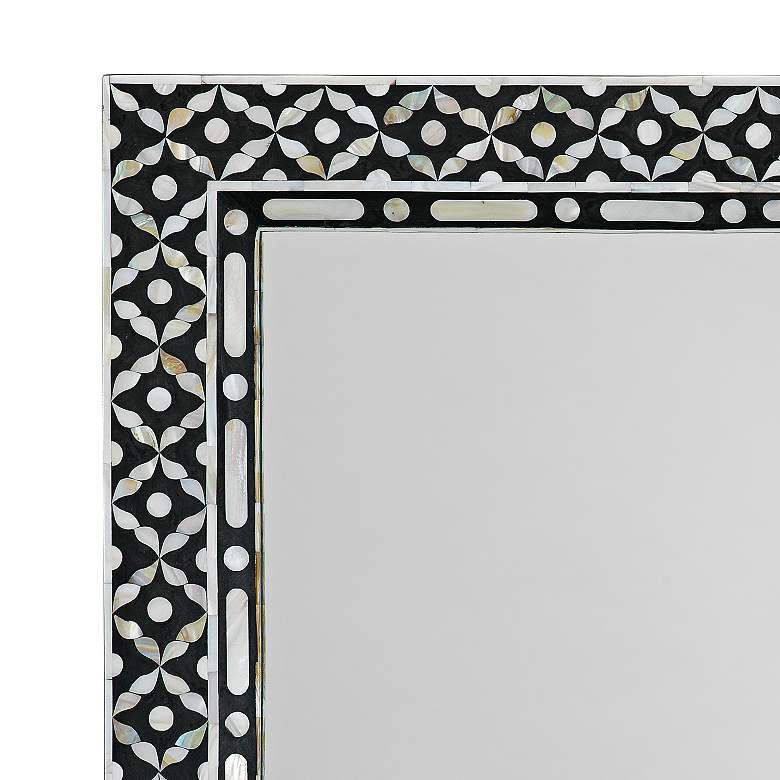 "Evelyn Mother of Pearl 24"" x 36"" Rectangular Wall Mirror more views"