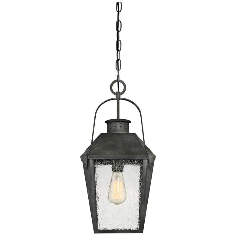 "Quoizel Carriage 21 1/4"" High Black Outdoor Hanging Light more views"